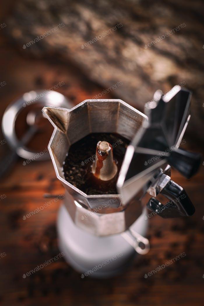 Percolated espresso coffee