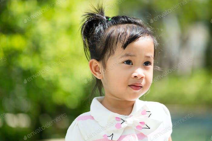 Girl play at outdoor
