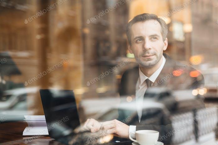 Pensive author