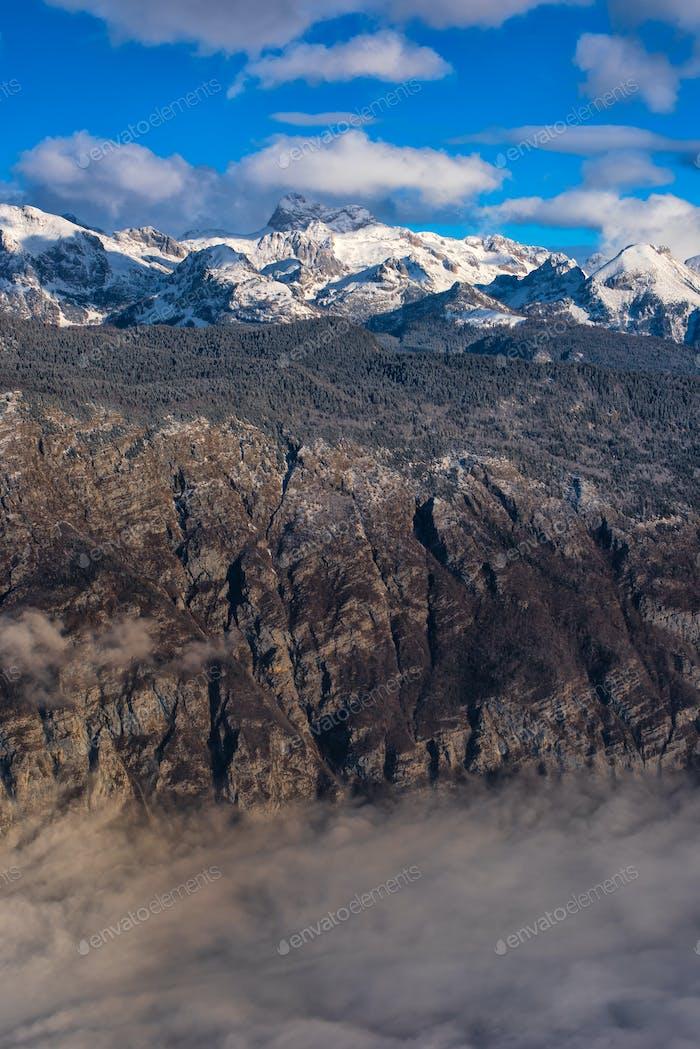 Beautiful Triglav mountain landscape