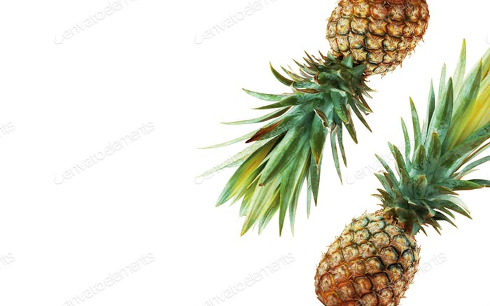Pineapple on background