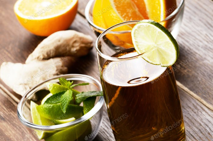 Lime and mint ginger Fruit beer