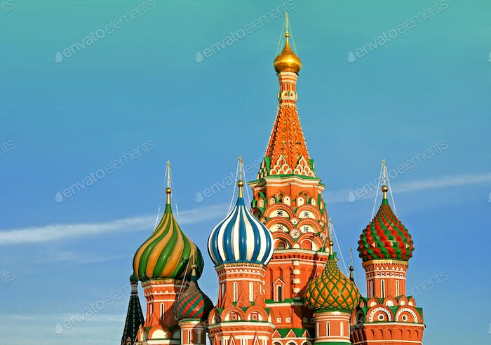 st Basil cathedral in Moscow. Russia.
