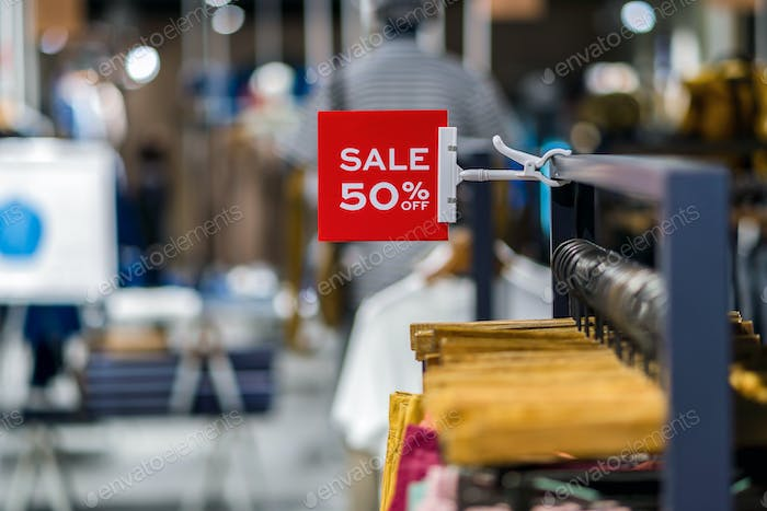 sale 50% off mock up advertise display frame setting over the clothes line