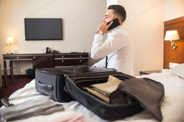 Businessman Arriving to Hotel