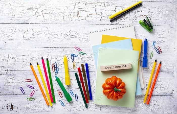 Thumbnail for Different colorful stationery for student