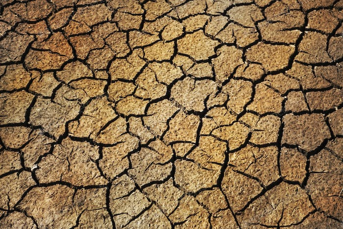 Background of a very dried ground in Summer