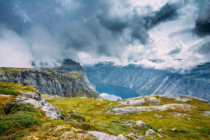 Mountains Landscape in Norway. Scandinavia.