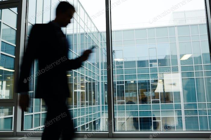 Blurry businessman