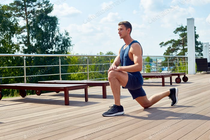 Having Workout Outdoors