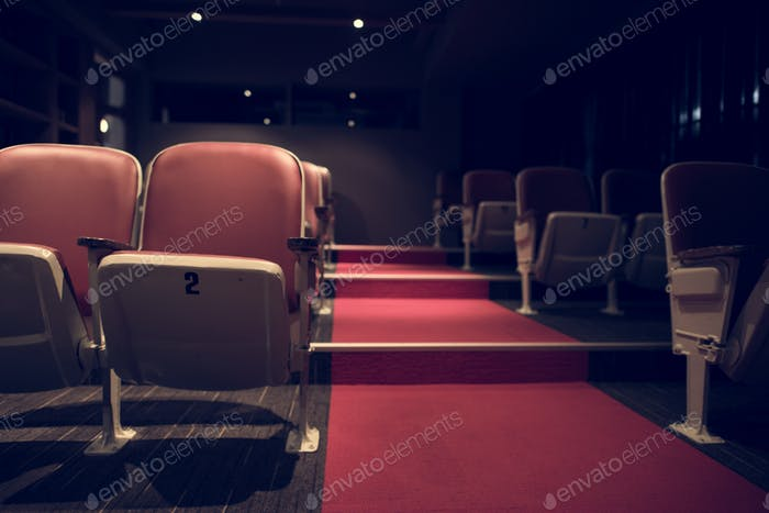 Empty rows in a movie theatre