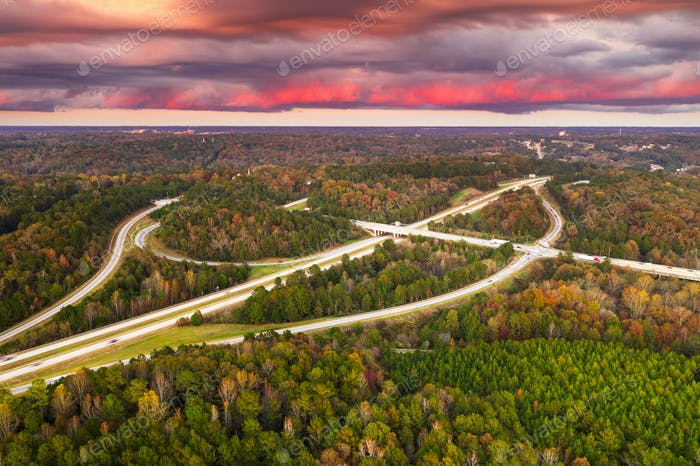 Roads, Highways, and Foliage