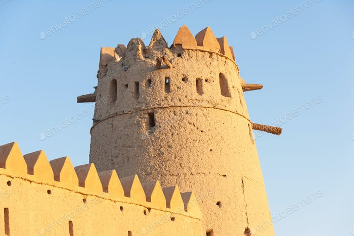 A Tower in Al Jahli Fort in Al Ain