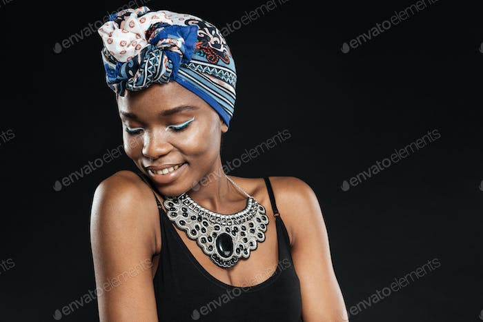 Beautiful young stylish african american black woman