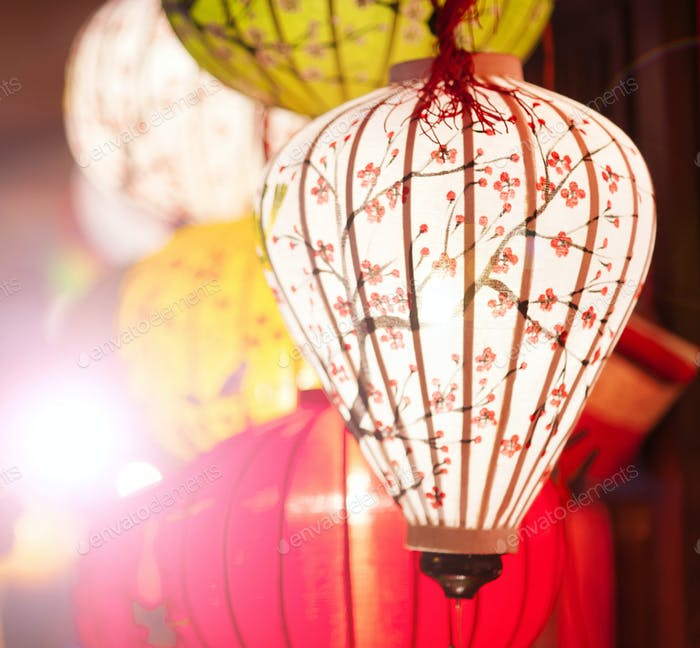 Traditional lanterns in Vietnam.
