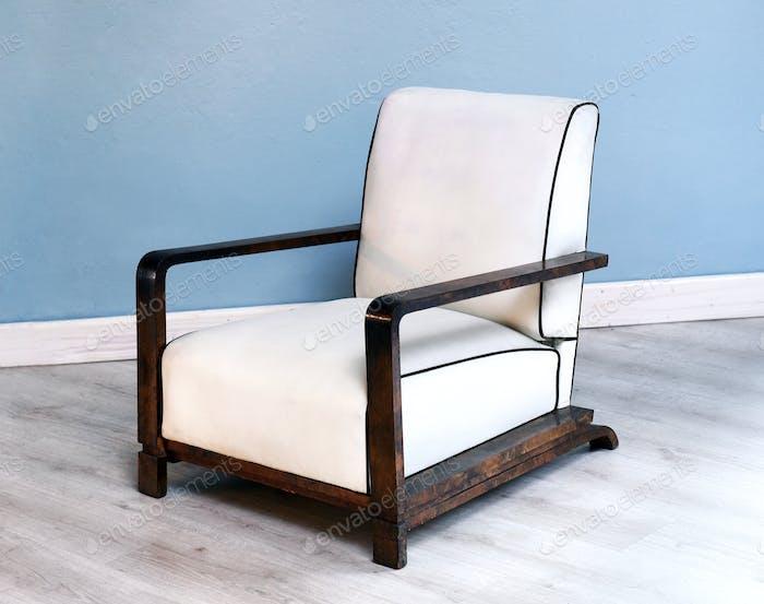 Stylish white art deco chair
