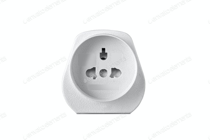 Power Adapter on White Background