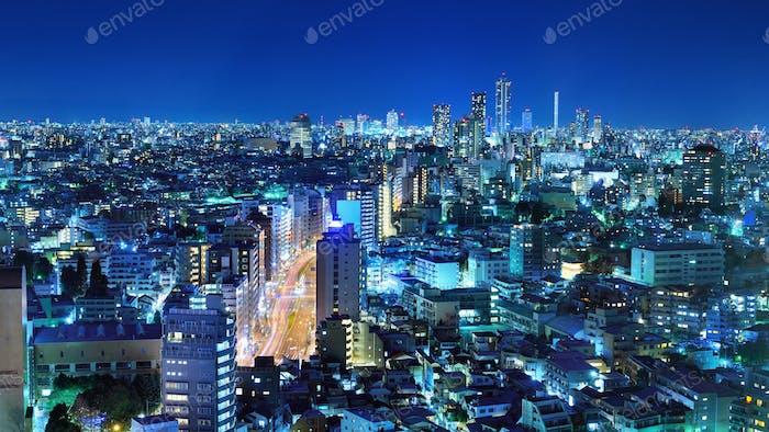 Tokyo Panorama in der Ward Bunkyo
