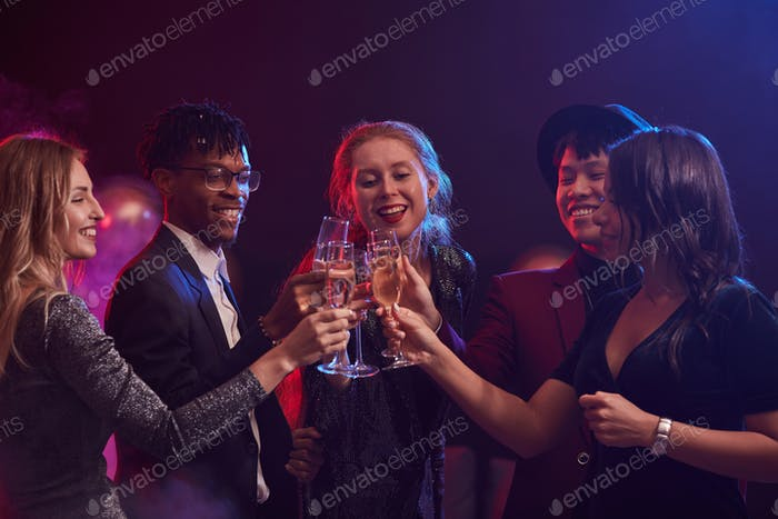 Young People Celebrating in Nightclub