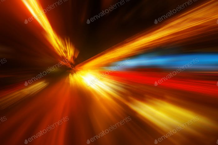 Zoom effect colorful abstract blur background