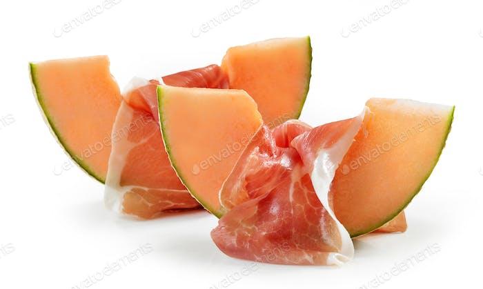Melone und Schinken