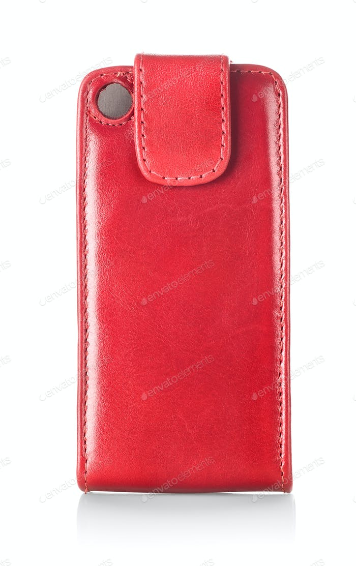 Red case for mobile phone