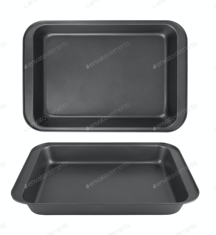 baking tray isolated