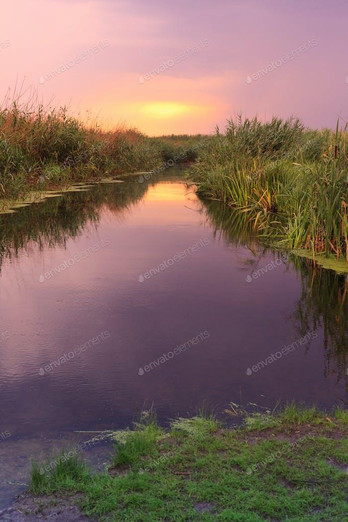 Sonnenaufgang See