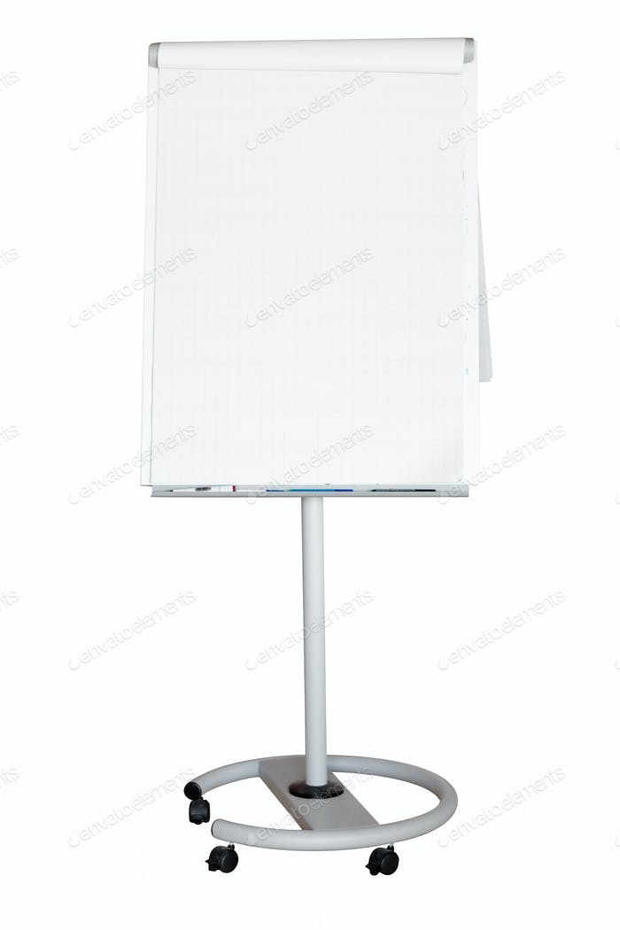 Flip Chart with Clipping Path Isolated on a White Background