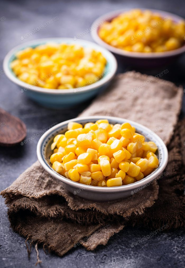 Bowl of  a sweet corn