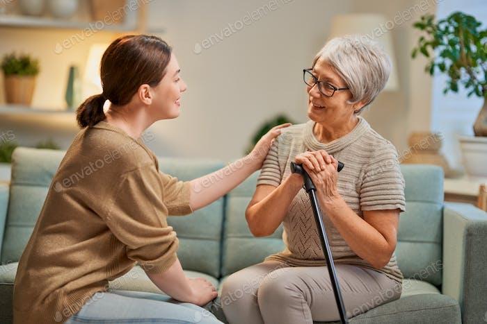 Пожилые пациенты и ухаживатель