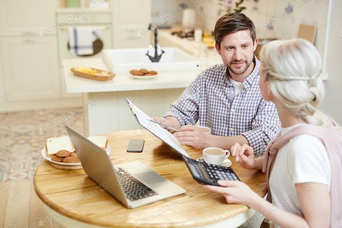 Couple filing tax return