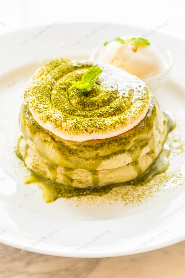 Green tea matcha pancakes