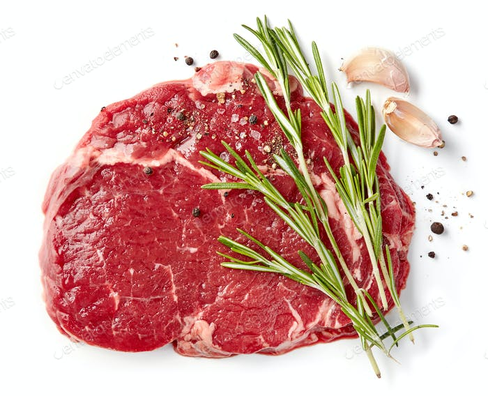 frisches rohes Rib-Eye-Steak
