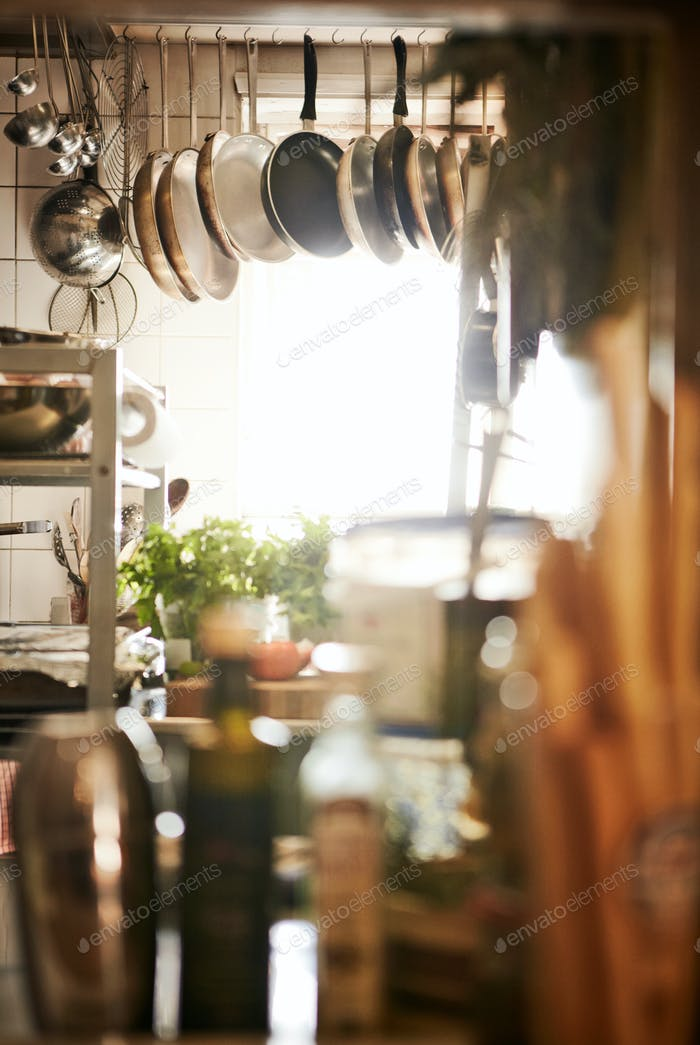 Cluttered Commercial Kitchen