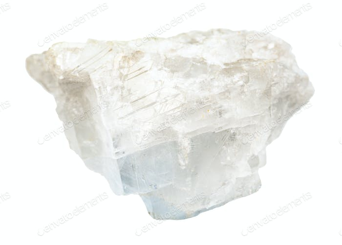 raw white blue Magnesite rock isolated on white