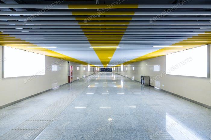 underground passage and light box