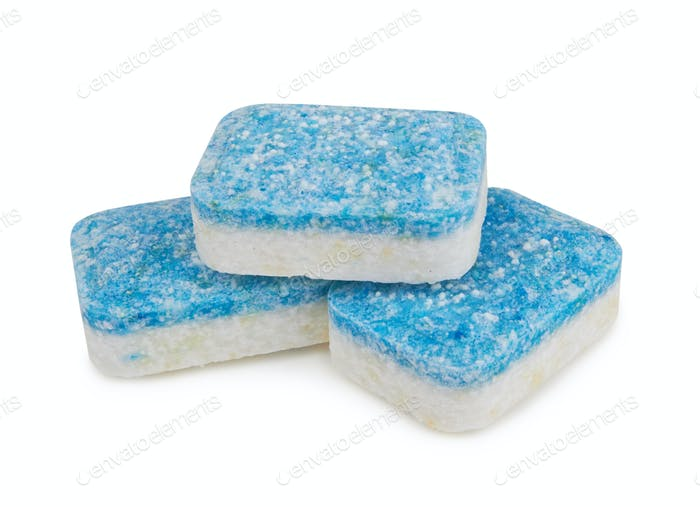 Dishwasher tablets isolated