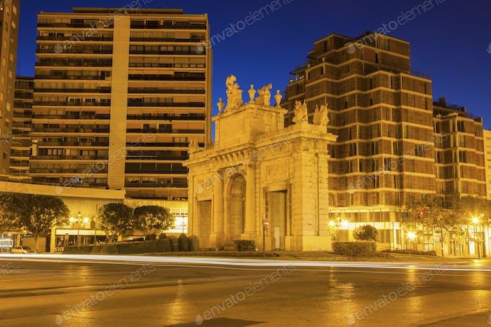 Puerta de la Mar in Valencia