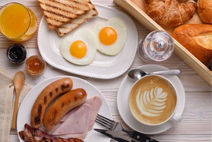 Kaffeetasse, Frühstück, Brot, Bäckerei