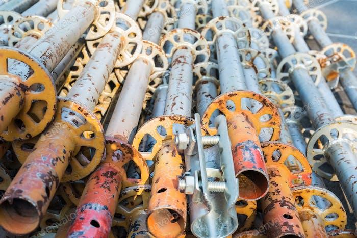 scaffold pipe closeup