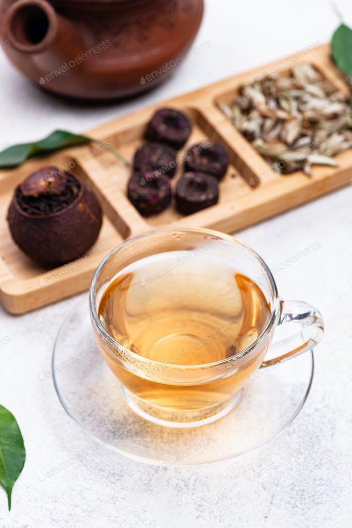 Verschiedene gepresste chinesische pu-erh Tee
