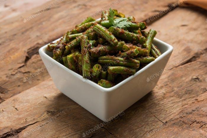 Indian Style Green Beans Sabzi