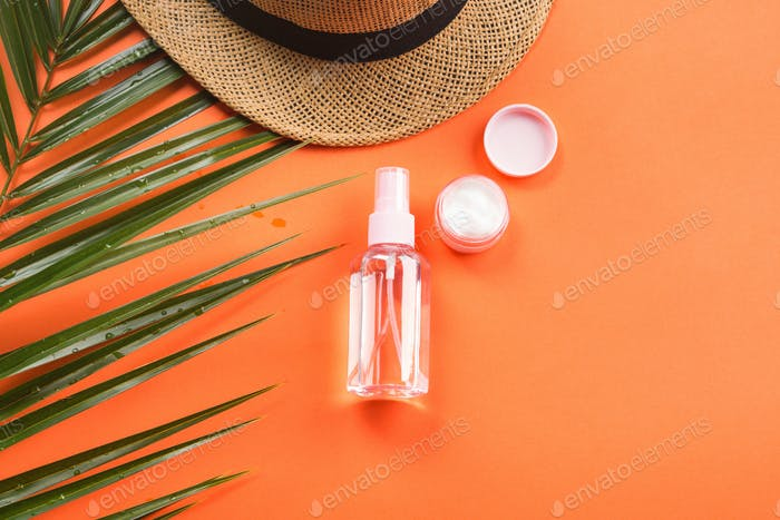 Sun protection concept with spray and cream