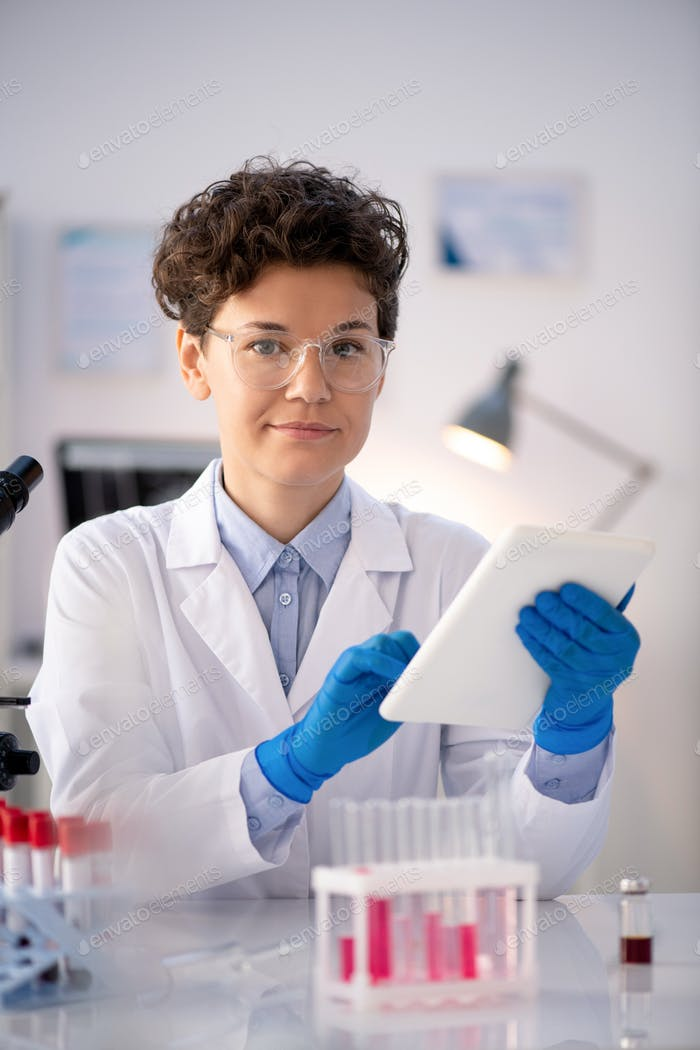 Pharmaceutical researcher in laboratory