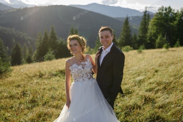 Wedding photography in the mountains.