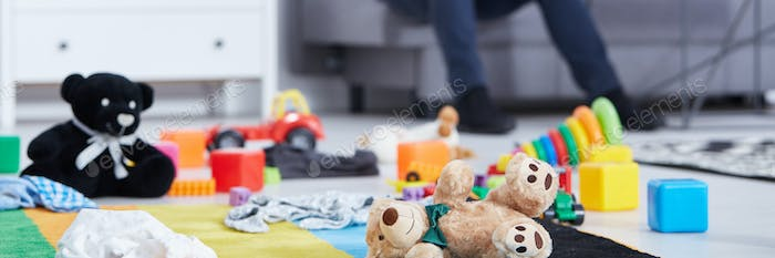 Carpet with children's toys