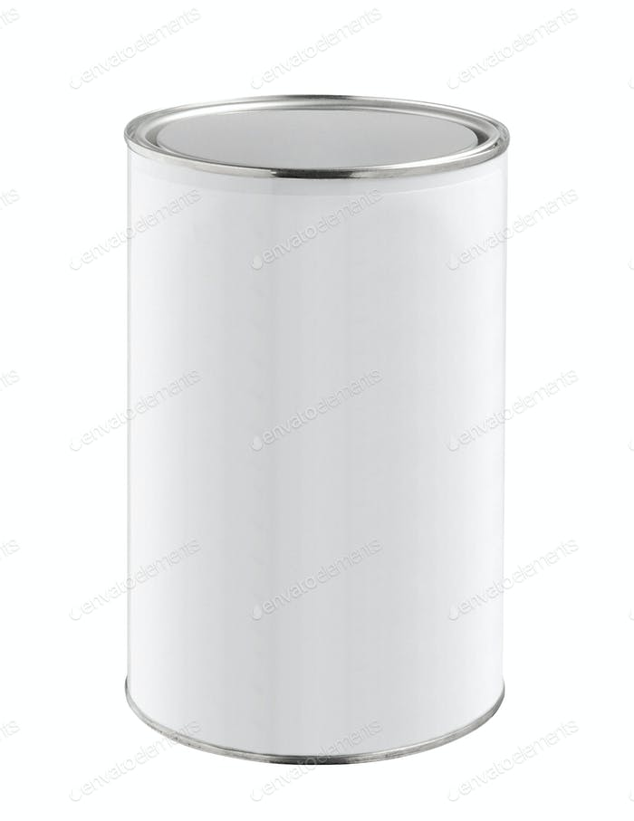 Metal Tin Can isolated