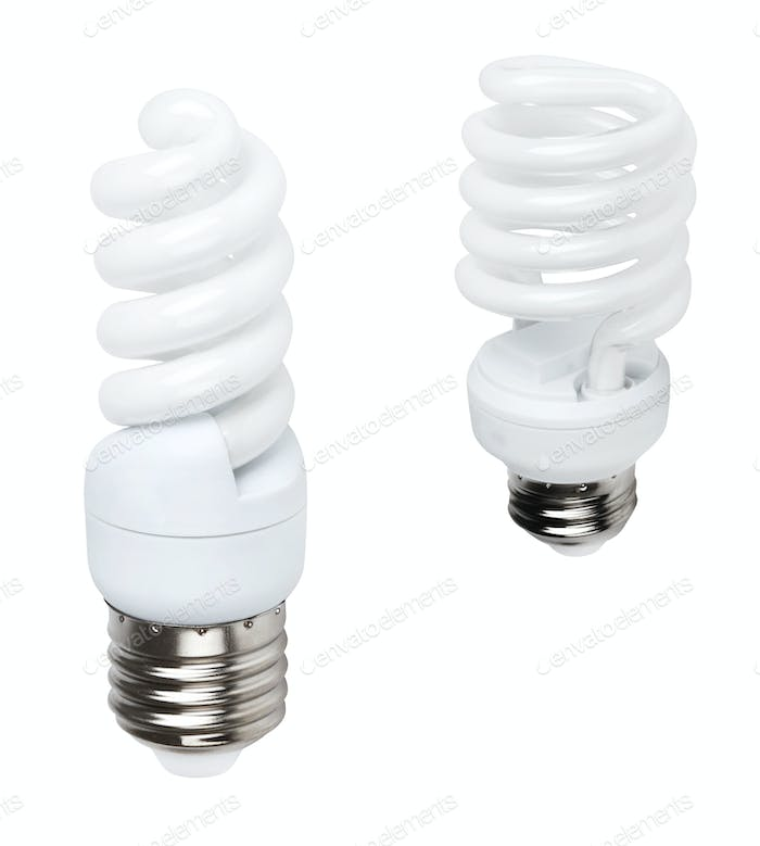 white energy saving bulbs