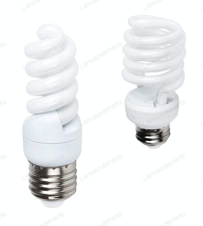 white energy saving bulbs